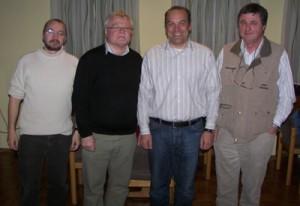 Wolfgang Stehmer, MdL, mit dem neuen Vorstand