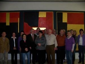 Die Besuchergruppe mit Bürgerinnen und Bürger aus Hemmingen, Korntal- Münchingen, Bönnigheim und Ludwigsburg